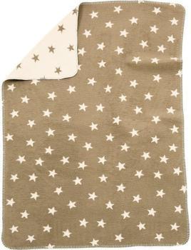 Alvi Baumwolldecke UV 50+ Sterne Beige