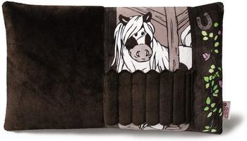 NICI Kissen Pony Poonita mit 2D-Tür 43 x 25 cm