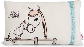 NICI Soulmates - Kissen Pferd Cloudhopper & Siamkatze 43 x 25 cm