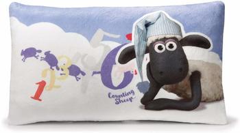 NICI Kissen Shaun Das Schaf mit Schlafmütze 43 x 25 cm