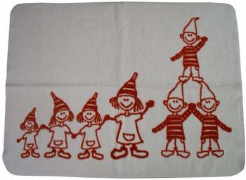 Richter Textilien Baby Baumwolldecke Zwerge 75 x 100