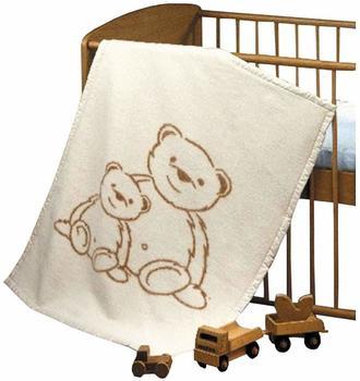 Richter Textilien Baby Baumwolldecke Bär Dodo 75 x 100 cm