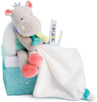 Doudou Tropicool - Hippo cuddly toy with comforter