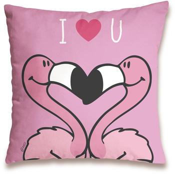 "NICI Kissen Flamingo ""I Love You"" 37 x 37 cm"