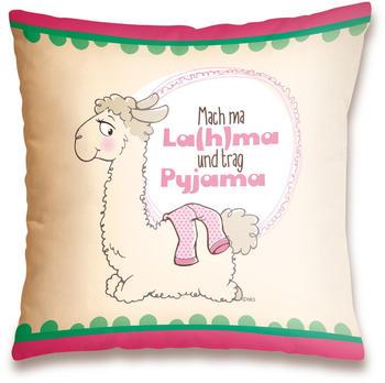 "NICI Kissen Lama ""Mach ma La(h)ma und trag Pyjama"" 37 x 37 cm"