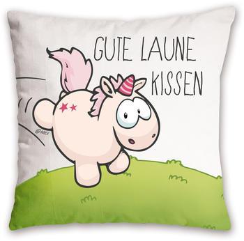 """NICI Kissen Einhorn - """"Gute Laune Kissen"""" 37 x 37 cm"""