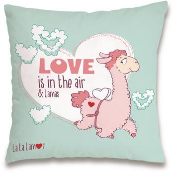 "NICI Kissen ""Love is in the Air & Lamas"" 37 x 37 cm"
