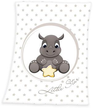 Baby Best Microfaser-Flauschdecke Nashorn