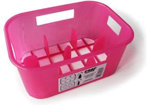 Reer Flaschenkasten pink transluzent