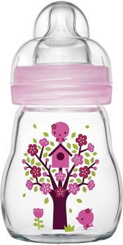 MAM Feel Good Glasflasche (170 ml) Rosa