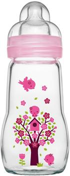 MAM Feel Good Glasflasche 260 ml rosa