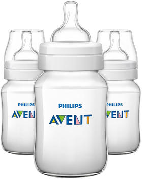 Avent Classic Anti-Colic 260ml Feeding Bottle 3-pack