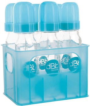 Remond Feeding Bottles rack + 6 Air Control Feeding Bottles Turquoise 240 ml
