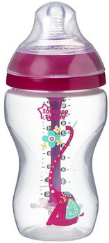 Tommee Tippee Advanced Anti-Colic Decorated Feeding Bottle Pink 340 ml