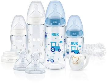 NUK First Choice Plus Perfect Start Set mit Temperature Control (PP) blau/weiß