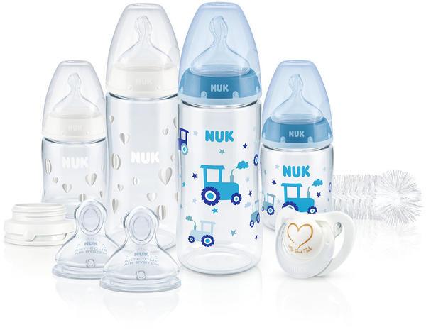 NUK First Choice Plus Perfect Start Set mit Temperature Control (PP) blau/weiß