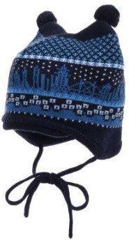 Maximo Baby-Strickmütze mit Bindeband (55571-315300-112) dunkelblau