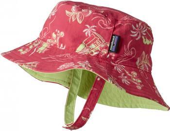 Patagonia Baby Sun Bucket Hat pink/green