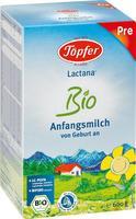 Töpfer Lactana Bio Pre Anfangsmilch 600 g