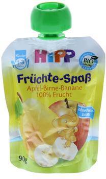 Hipp Früchte-Spaß Apfel-Birne-Banane (90 g)