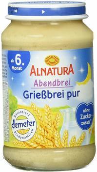 Alnatura Abendbrei Grießbrei pur 6 x 190 g