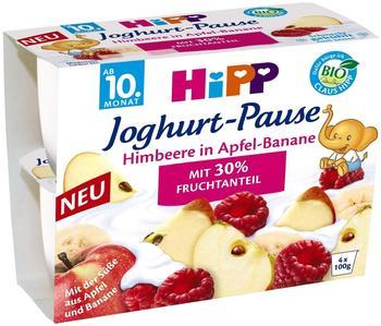 Hipp Joghurt-Pause Himbeere in Apfel-Banane (4x100 g)