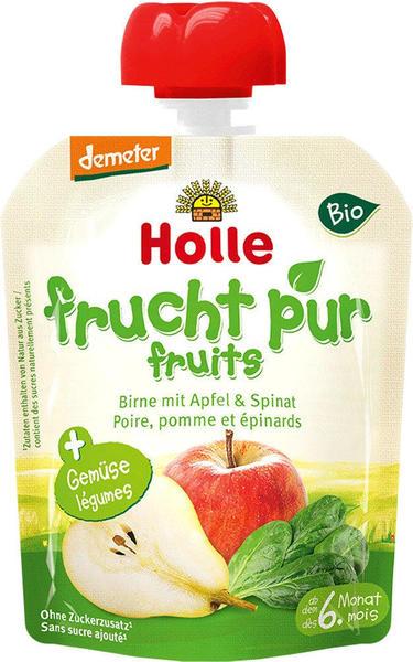Holle Pouchy Birne mit Apfel & Spinat (90g)