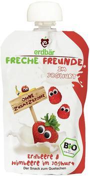 Erdbär Freche Freunde Bio Quetschmus Erdbeere & Himbeere im Joghurt 6 x 100 g