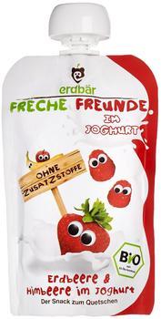 erdbär Freche Freunde zum Quetschen Erdbeere & Himbeere im Joghurt (100 g)