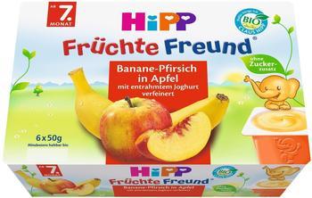 HiPP Früchte Freund Banane-Pfirsich in Apfel 6 x 50 g