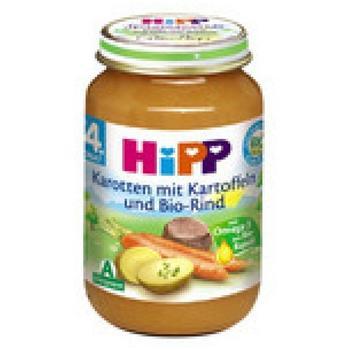 Hipp Karotten mit Kartoffeln und Bio-Rind ab 4. Monat (190 g)
