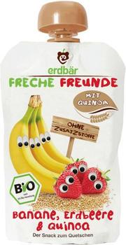 erdbär Freche Freunde zum Quetschen Banane Erdbeere & Quinoa (100 g)