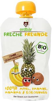 erdbär Freche Freunde zum Quetschen Apfel Banane Ananas & Kokosnuss (100 g)