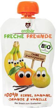 erdbär Freche Freunde zum Quetschen Birne Banane Orange & Vanille (100 g)