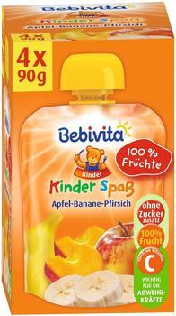 Bebivita Kinder Spaß Apfel-Banane-Pfirsich (4 x 90 g)