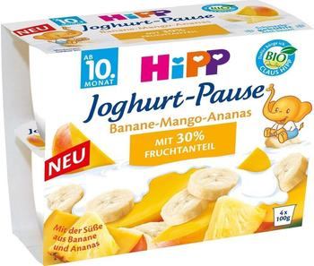 Hipp Joghurt-Pause Banane-Mango-Ananas (4x100 g)