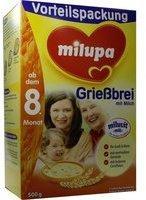 Milupa Kleine Genießer Milchbrei Grießbrei ab dem 8. Monat (500 g)