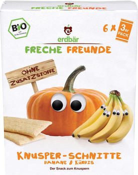 erdbär Freche Freunde Knusper-Schnitte Banane & Kürbis (84g)