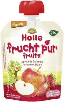 Holle Pouchy Apfel mit Erdbeere (90g)