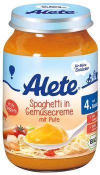 Alete Spaghetti in Gemüsecreme mit Pute (190g)