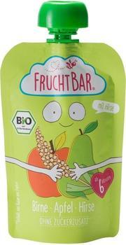 Frucht Bar Bio Fruchtpüree Birne, Apfel & Hirse (90 ml)