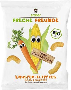 Erdbär Freche Freunde Bio Knusper-Flippies Mais & Karotte 25 g