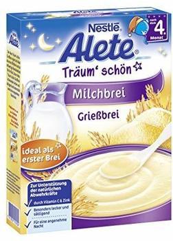 Alete Kleine Entdecker Abend-Milchbrei Grießbrei 250 g