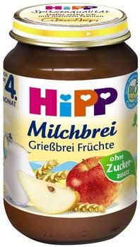 HiPP Bio Milchbrei Grießbrei Früchte 190 g