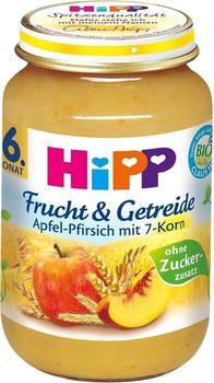 Hipp Frucht & Getreide Apfel-Pfirsich mit 7-Korn (190g)