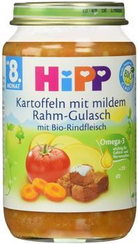 Hipp Kartoffeln mit mildem Rahm-Gulasch (220 g)