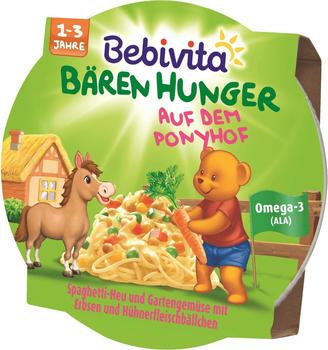 Bebivita Bären Hunger Spaghetti-Heu mit Gartengemüse und Hühnerfleischbällchen (250g)