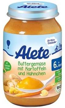 Alete Bio Kleine Entdecker Buttergemüse mit Kartoffeln und Hühnchen 190 g