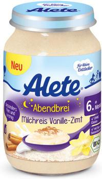 Alete Abendbrei Milchreis Vanille-Zimt (190g)