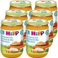 HiPP Couscous mit Gemüse und Bio-Hühnchen 6 x 220 g),